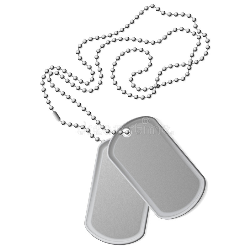 Download Identity tags stock vector. Image of bead, metal, military - 6797673