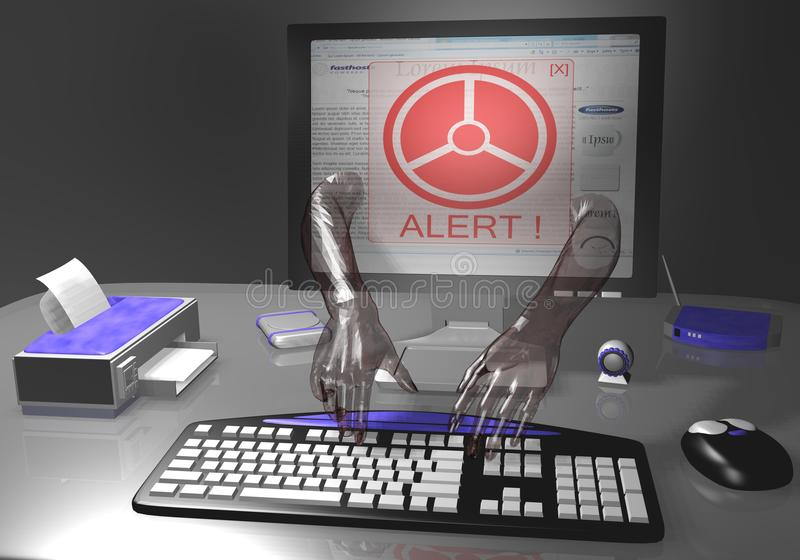 Download Identity theft alert stock photo. Image of data, coding - 10159792