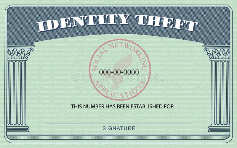 Identity Theft Card royalty free illustration