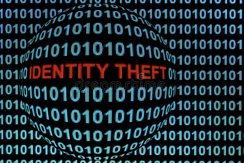 Identity Theft in Red stock photos