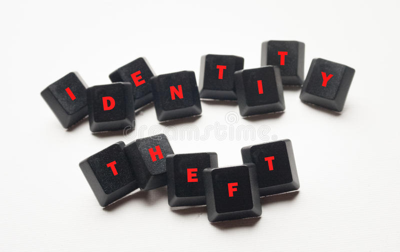 Identity Theft Text stock photo