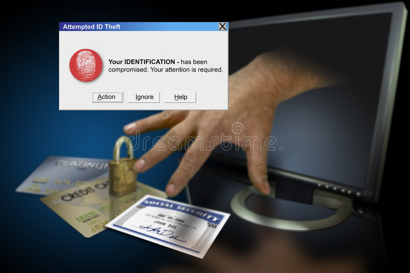 Identity theft on the web stock image
