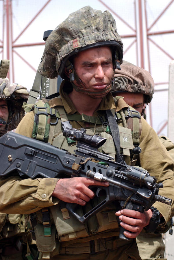 IDF - Corpo della fanteria di Israele immagini stock