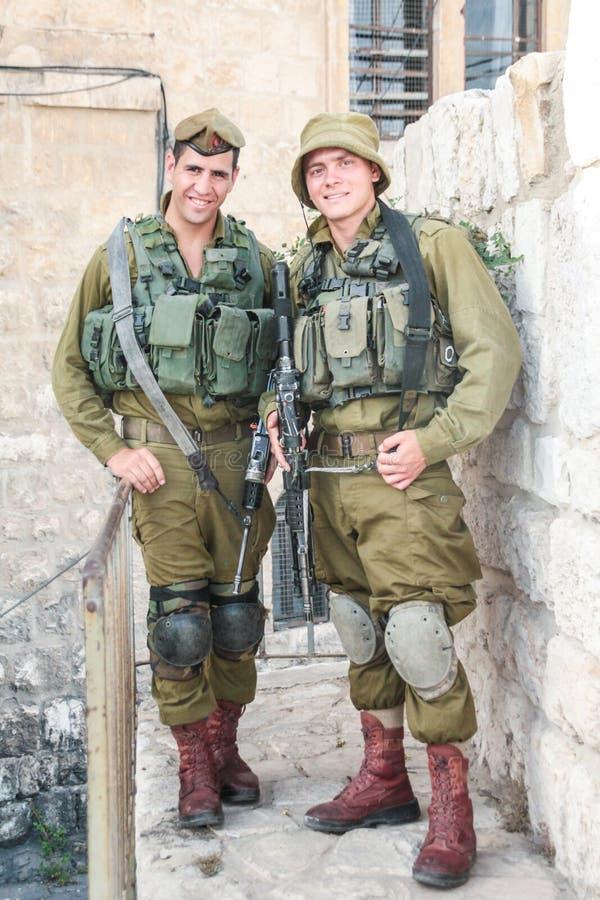 IDF dei soldati israeliani a Gerusalemme fotografia stock libera da diritti