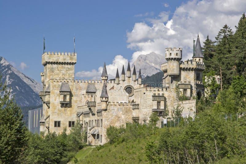 Idilio del castillo en Seefeld en el Tirol fotografía de archivo
