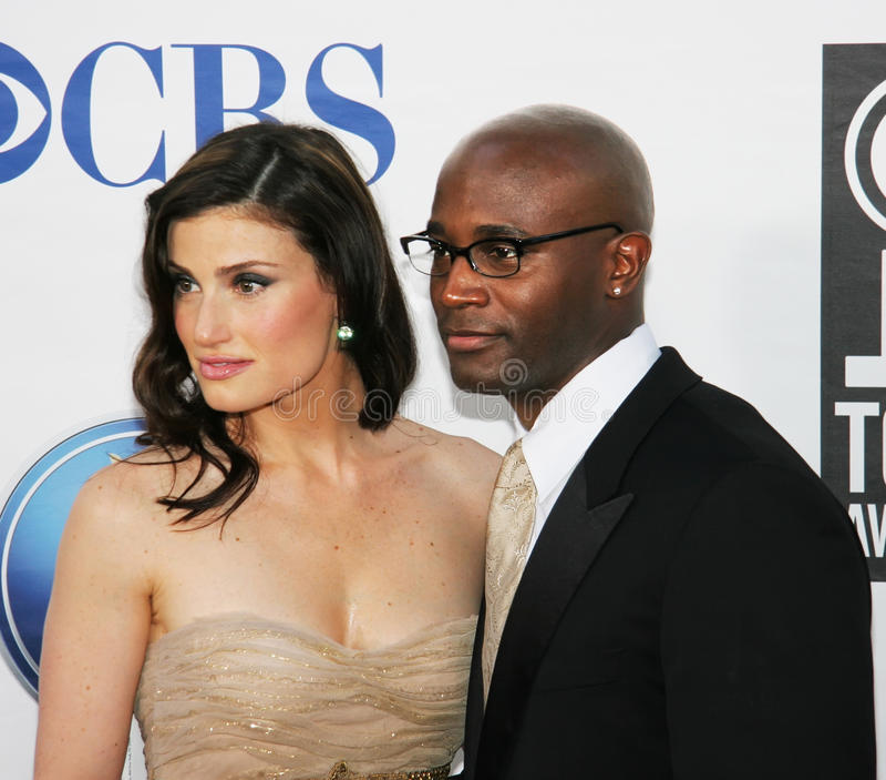 Idina Menzel en Taye Diggs royalty-vrije stock foto