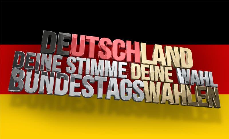 Idioma alemão para Alemanha sua voz seu voto ilustração do vetor