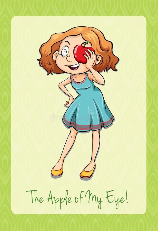 Idiomu jabłko mój oko royalty ilustracja