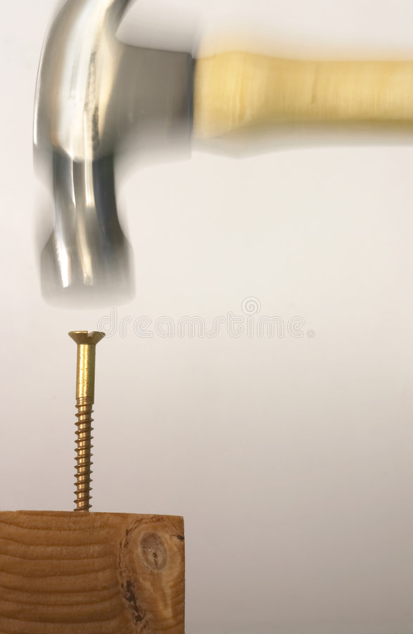 Download Idiot hammers a stock photo. Image of mistake, idiocy, unprepared - 34838