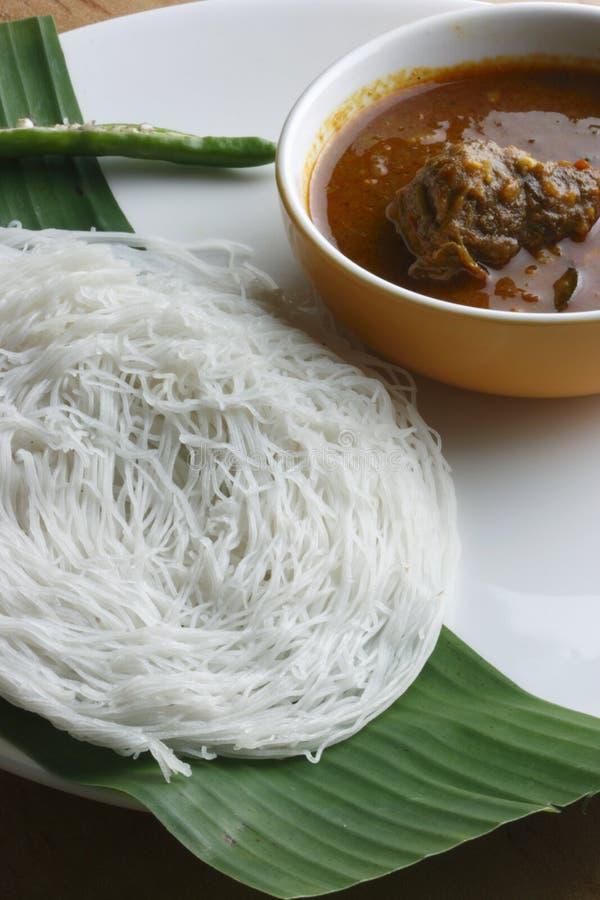 Idiyappam - funis da corda de Kerala, Índia fotografia de stock royalty free