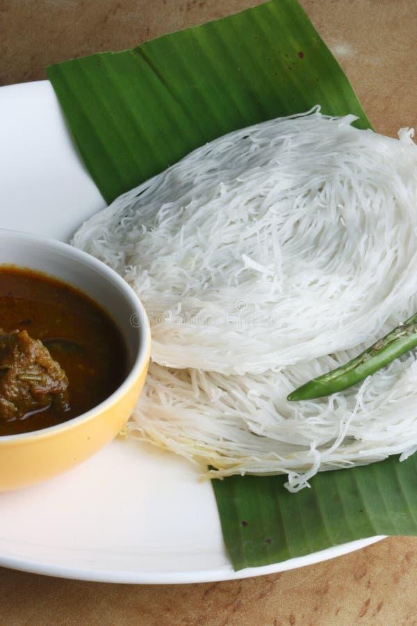 Idiyappam - funis da corda de Kerala, Índia fotos de stock royalty free