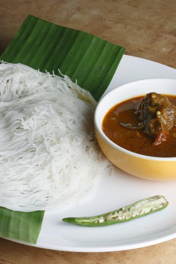 Idiyappam - Schnurtrichter von Kerala, Indien stockfotos