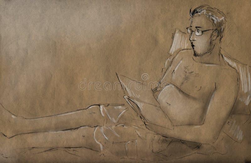 Download Idle reader stock illustration. Illustration of artistic - 32393765