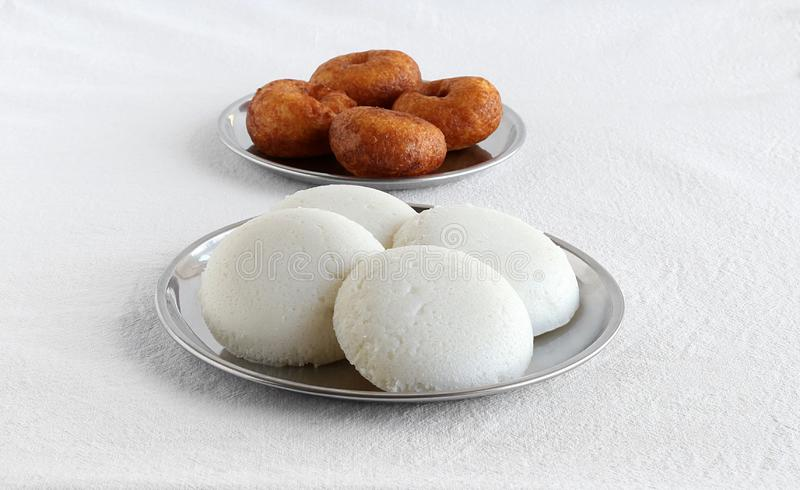 Idli Healthy South Indian Vegetarian Breakfast and Vada royalty free stock photography