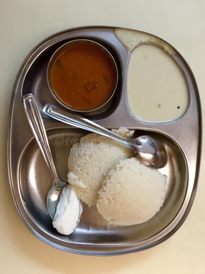 Idli Sambar - South India Cuisine (Udupi Cuisine). Idli sambar is a delicious south Indian dish served as breakfast in India. Udupi Cuisine is a stock photography