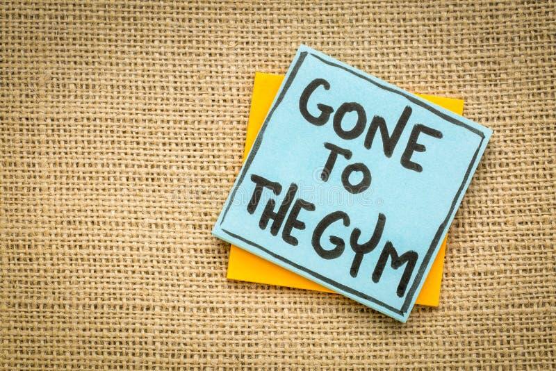 Ido à nota do gym imagens de stock royalty free