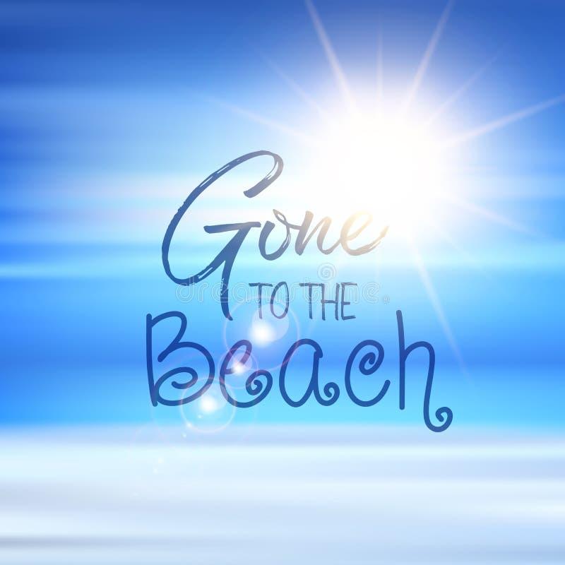 Ido ao fundo das citações da praia ilustração royalty free