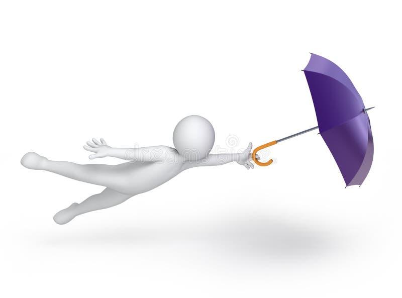 Ido com o vento ilustração royalty free