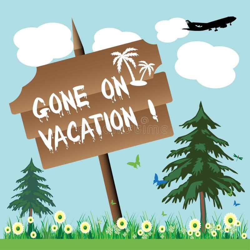 Ido em férias ilustração do vetor
