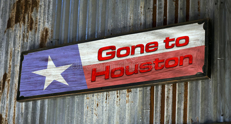 Ido a Houston fotografia de stock