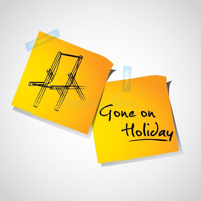 Ido no feriado ilustração do vetor