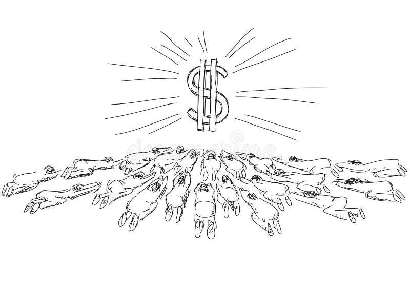 Idolâtrie illustration de vecteur