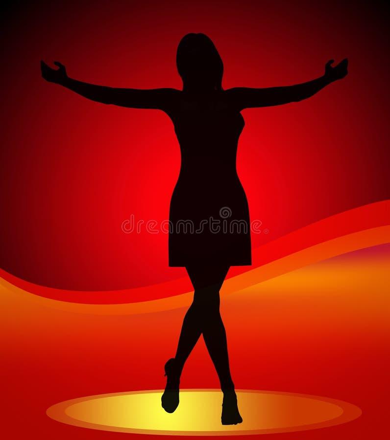 idol dancingowa gwiazda royalty ilustracja