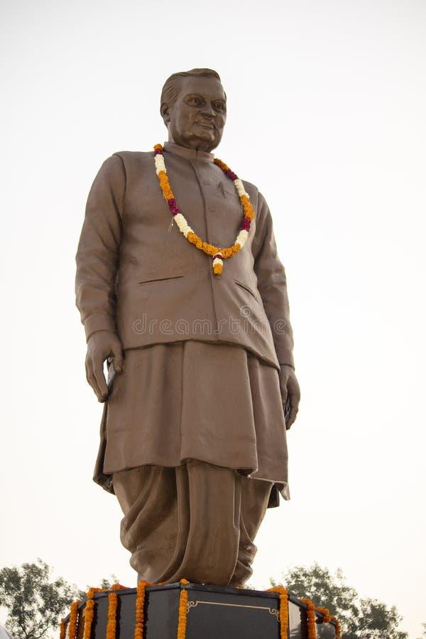 Idol of former prime minister of india atal bihari vajpayee in karnal at atal park. Idol of former prime minister of india atal bihari vajpayee in karnal at atal royalty free stock images
