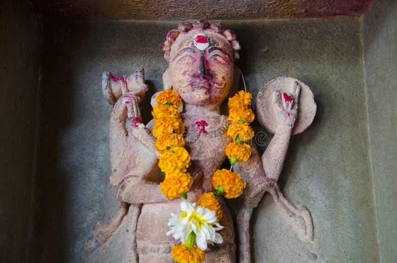 Idol of the Kala Bhairava, inside the Vitthal Rukhmini Temple, Palashi, Parner, Maharashtra, India stock photos