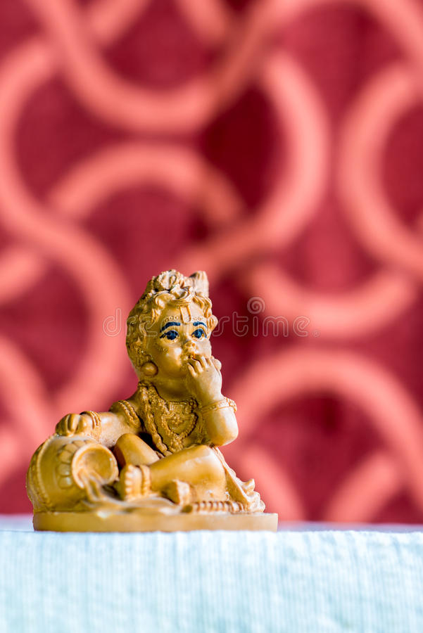 Idol of Lord Krishna in his childhood form stock image