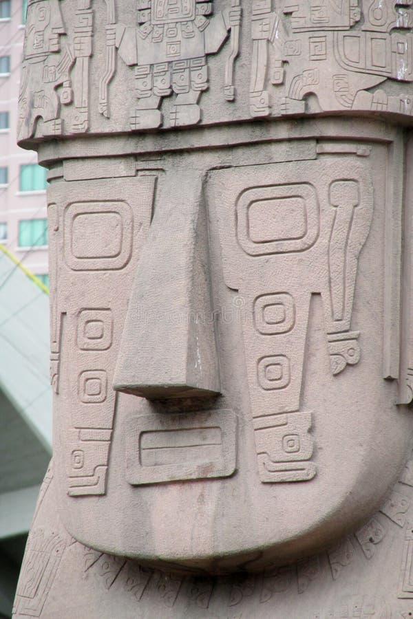 Idol statue from Tiwanaku royalty free stock image