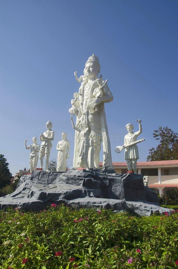 Idol von Lord Vitthala, Anand Vihar Bhakta Nivas, Shegaon, Maharashtra lizenzfreie stockfotografie