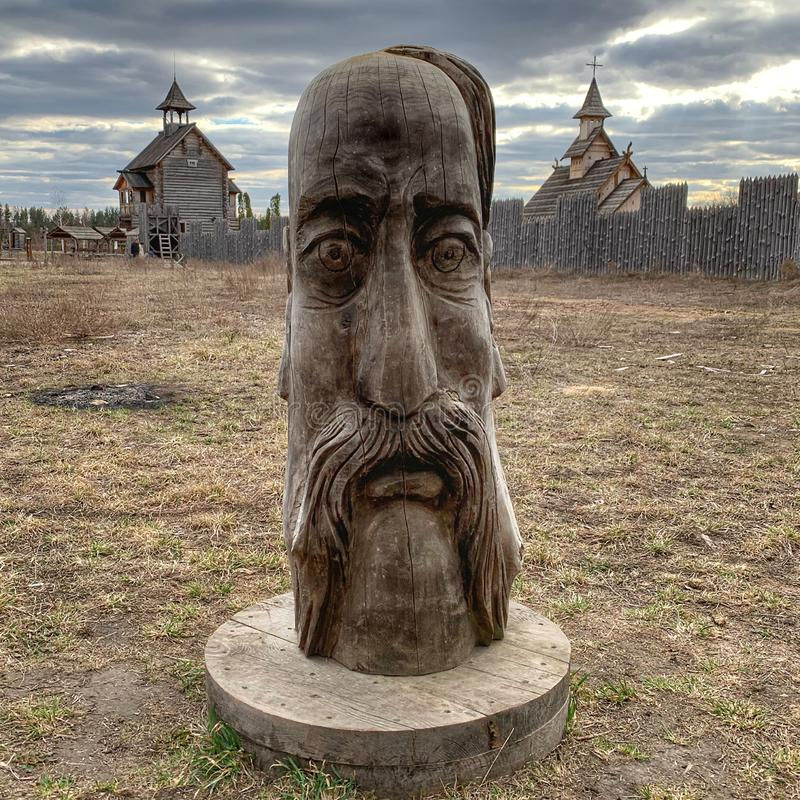 Idol wooden kiev russia church stock images