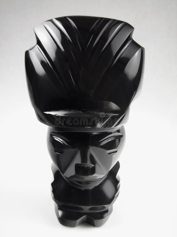 Idole noir poli d'Onyx-Aztèque image stock