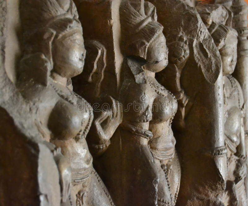 Idoles d'une plus défunte ère bouddhiste photo libre de droits