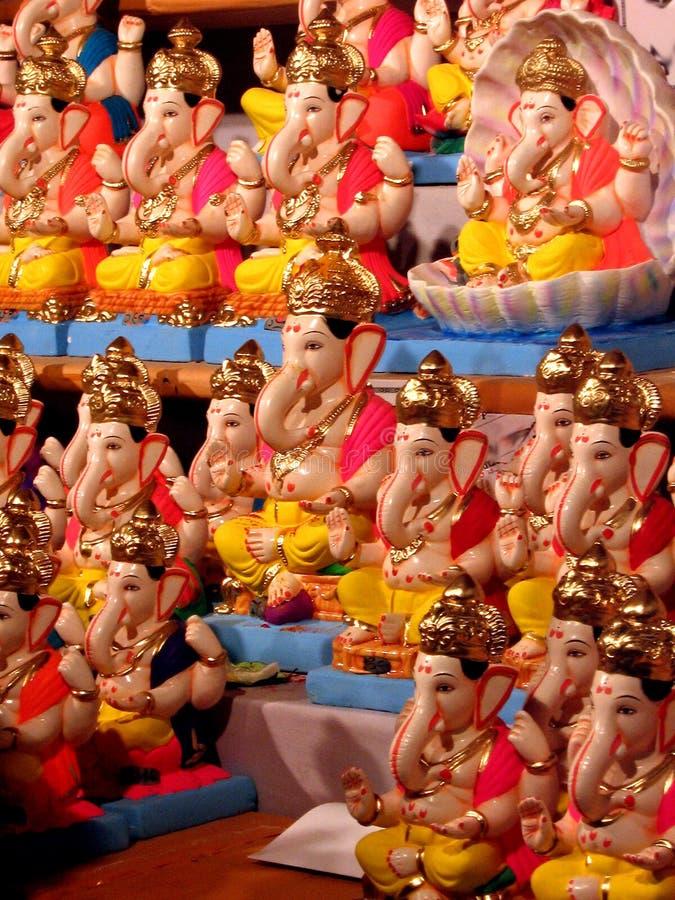 Idoles de Ganesh images libres de droits