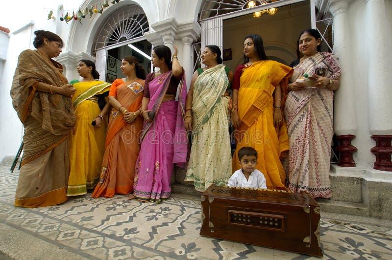 idoles Inde s de festival de durga d'argile photos stock