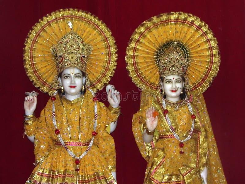 Idoli del signore Vishna e dea Lakshmi immagine stock libera da diritti