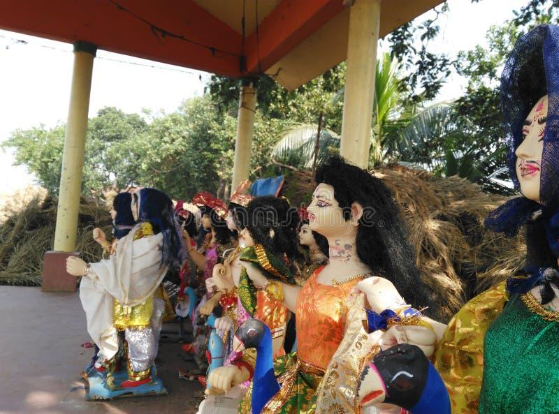 Idoli di Dio Kartikeya fotografie stock libere da diritti