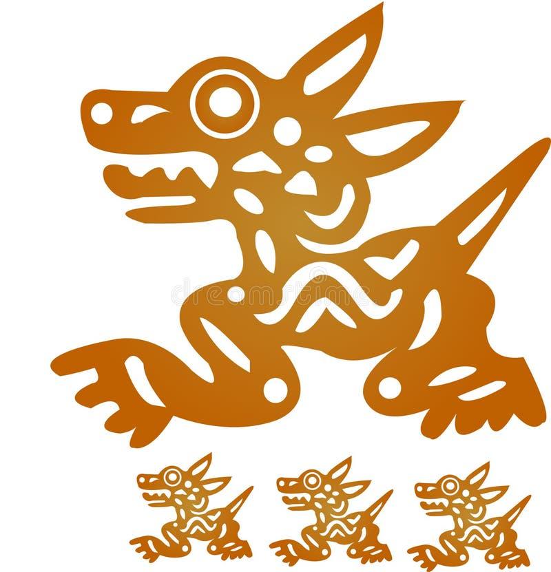 Idolo azteco illustrazione vettoriale