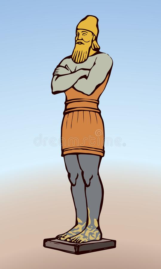 Idolo dorato di Nebuchadnezzar Illustrazione di vettore illustrazione vettoriale