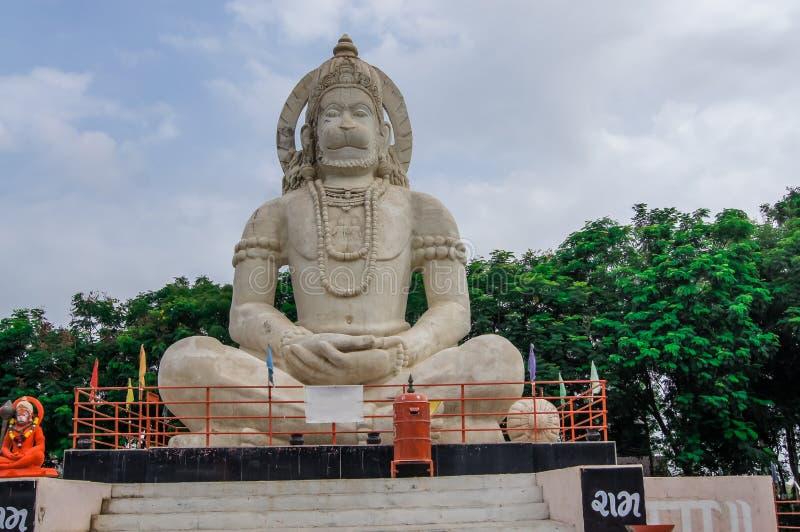 Idolo indù di Dio Hanuman, statua enorme di signore indiano Hanuman immagini stock libere da diritti