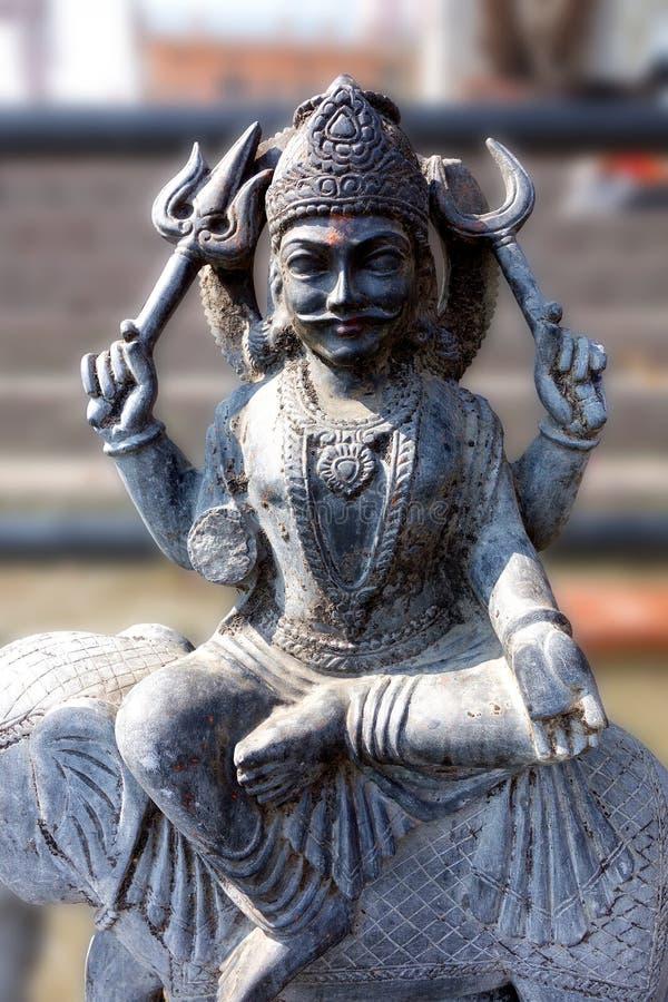 Idolo indù di Shani (Saturn) fotografia stock