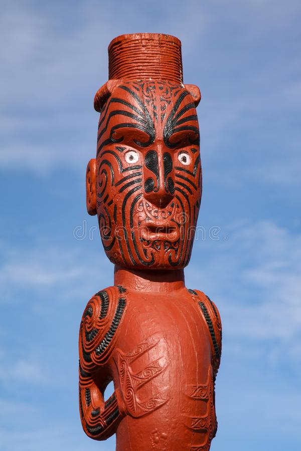 Idolo maori immagini stock libere da diritti