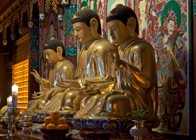 Idols at Haedong Yonggungsa Temple, Busan. Idols at Haedong Yonggungsa Temple, located at sea shore Busan, South Korea stock images