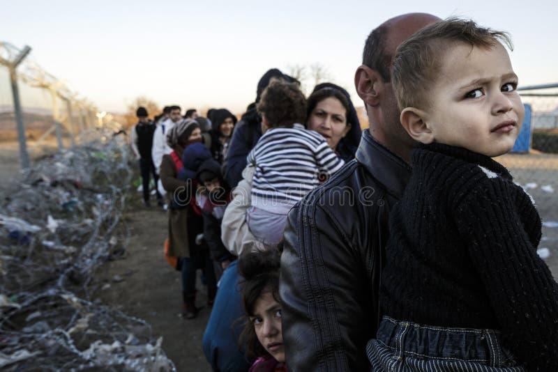 Idomeni Griekse grens royalty-vrije stock fotografie