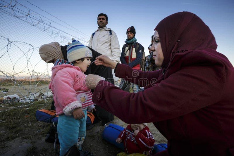 Idomeni Griekse grens royalty-vrije stock foto's