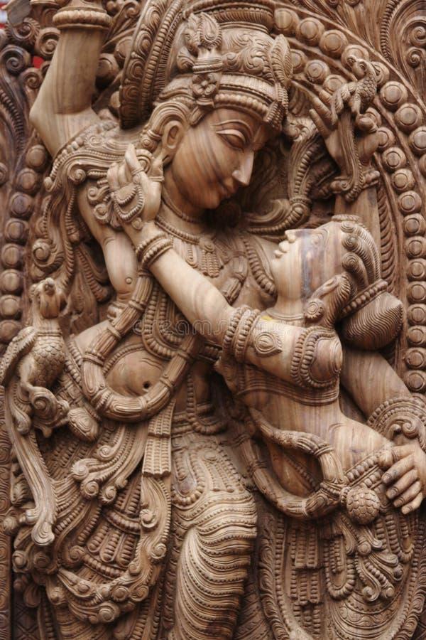 Idool van Lordkrishna stock afbeeldingen