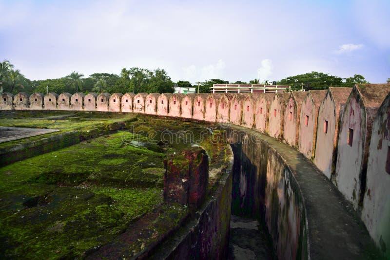 Idrakpur fort, Munshiganj, Bangladesz zdjęcie royalty free