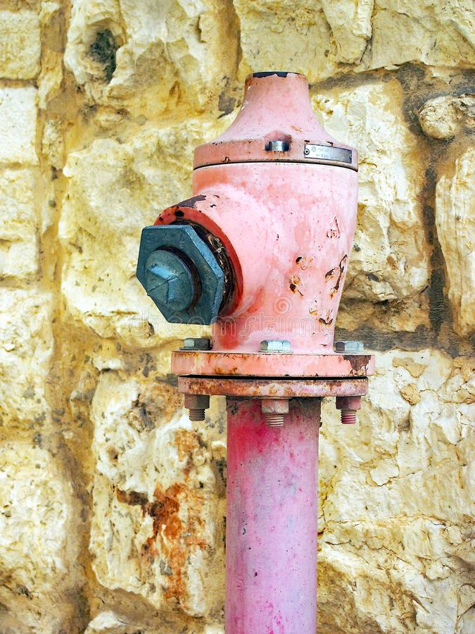 Idrante antincendio rosa immagini stock libere da diritti